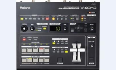 广州市亚歌电声设备有限公司:罗兰Roland V-40HD 高清视频切换台 【支持HDMI、RGB、复合、分量】