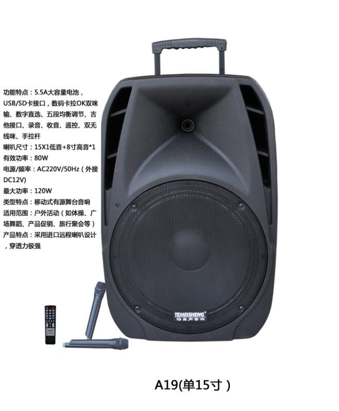 特美声15寸移动音箱A19
