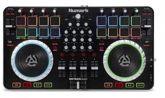 广州市亚歌电声设备有限公司:NUMARK正式推出新品MIXTRACK QUAD