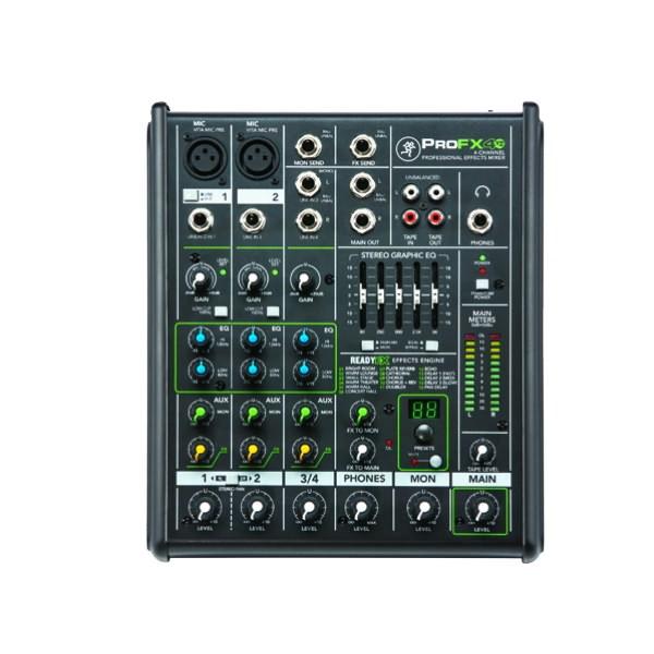 山东美音美视信息技术有限公司:RunningMan调音台:ProFX4v2 /4通道专业调音器