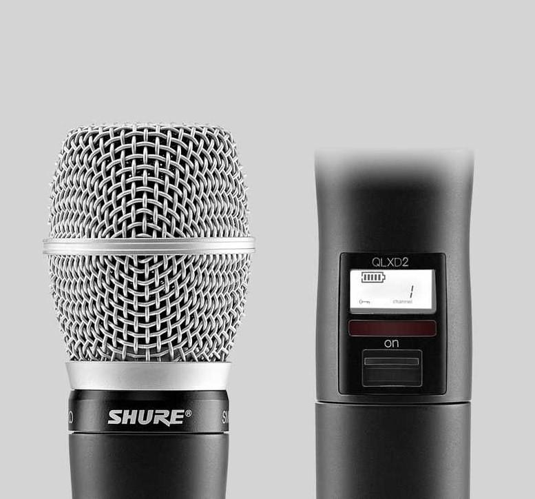 SHURE/舒尔话筒: 舒尔QLXD2/SM86 心形电容手持式发射机