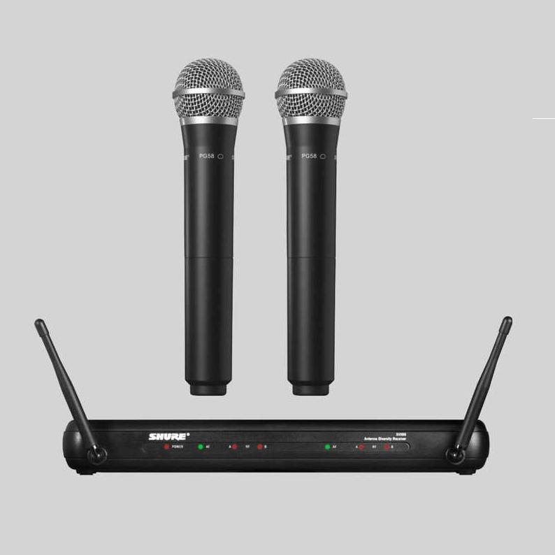 SHURE/舒尔话筒:舒尔SVX288/PG58 双手持套装无线话筒