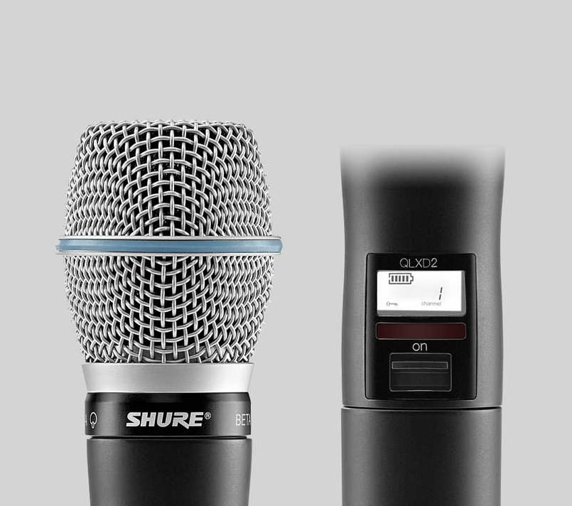 SHURE/舒尔话筒:QLXD2/BETA87A 超心形电容手持式发射机