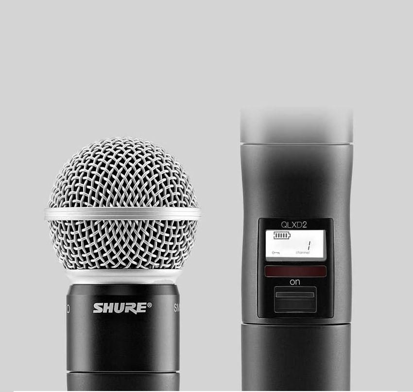 SHURE/舒尔话筒:QLXD2/SM58 心形动圈手持式发射机