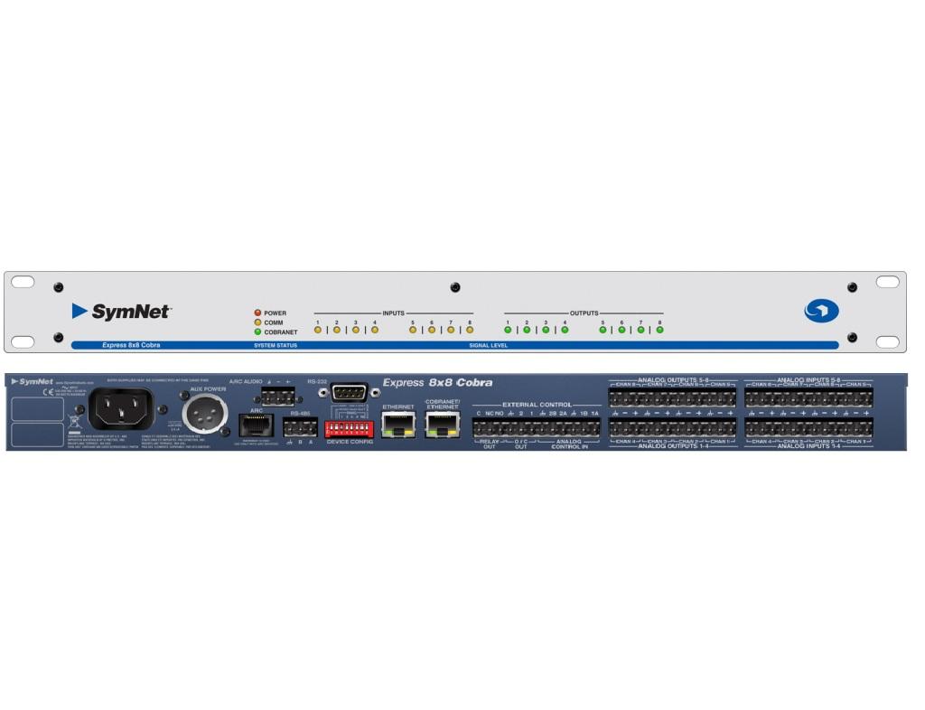 Symetrix Express 8×8 Cobra 网络矩阵 音频矩阵 媒体矩阵 会议矩阵  专业音响 音频处理器图