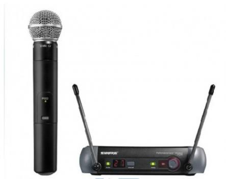 广州市亚歌电声设备有限公司:Shure/舒尔 PGX24/SM58 一托一手持无线话筒