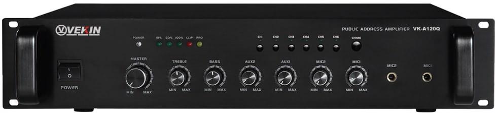 Q系列-六分区带前置合并式广播功放 VK-A70Q VK-A120Q VK-A240Q VK-A360Q VK-A500