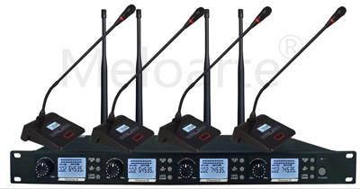 Meloarte无线会议一拖四(桌面型 无线话筒)RU400-X